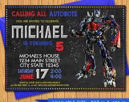 transformers birthday invitation transformers invitation