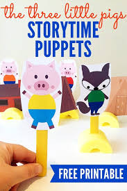 pigs printable storytelling puppets