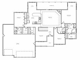 traditional brick ranch home plan single level ranch home one