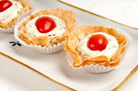 made canap volauvent canape of tomate and cheese also called caprese