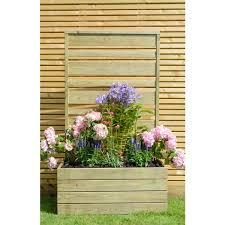 Wooden Planter With Trellis Wooden Urban Screen Planter