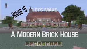 minecraft let u0027s make a modern brick house house 5 youtube