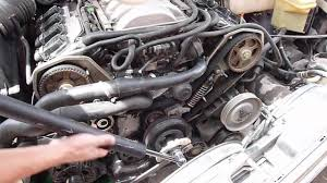 lexus v8 water pump replace a8 d2 water pump without timing belt youtube