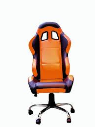 fauteuil siege baquet fauteuil siège baquet paddock orange noir accessoires stand sur
