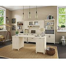amazon com bestar pro linea u desk with hutch white kitchen