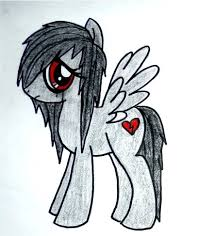 sad emo u0027my little pony u0027 unicorn drawings pinterest emo