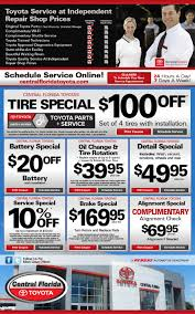 toyota home service toyota service coupons deals u0026 specials serving orlando