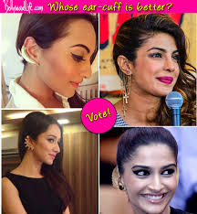 how do you wear ear cuffs shraddha kapoor priyanka chopra sonakshi sinha or sonam kapoor