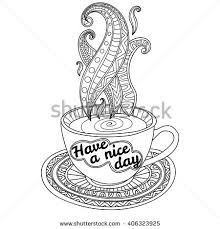 decorative coffee cup aroma stock vector 402308344 shutterstock