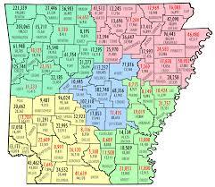 map of arkansas county population map encyclopedia of arkansas