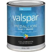 valspar medallion 100 acrylic paint u0026 primer flat interior wall