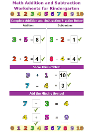 kindergarten math worksheets addition and subtraction kelpies