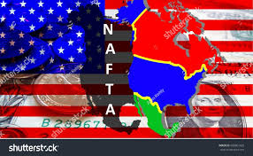 Canada On A Map Nafta American Trade Agreement A Map Mexico Stock Illustration