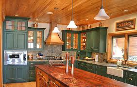 Images Of Painted Kitchen Cabinets Pictures Of Log Home Kitchens The Log Home Guide