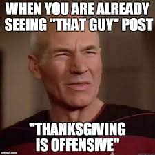 that thanksgiving offensive imgflip