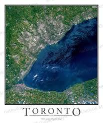 Map Of Toronto Toronto Canada Satellite Map Print Aerial Image Poster