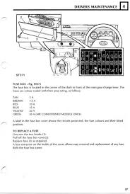 rover fuse box diagram rover wiring diagrams instruction