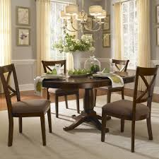 extendable round dining table wood interior design