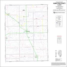 Illinois Road Map by Highway Department Hamilton County Illinois