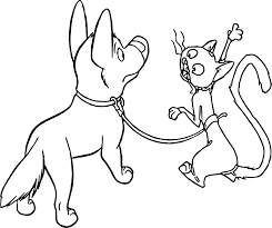 bolt dog cat coloring pages wecoloringpage