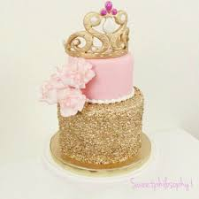 princess pink and gold sequined cake aur pinterest cake and