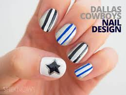 fan icures nail design tutorials inspired by football teams