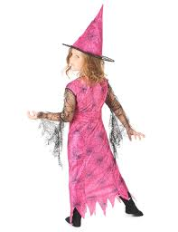 pink spider witch costume for girls vegaoo
