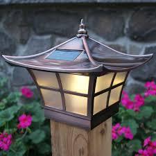 Solar Light For Fence Post - classy caps solar 2 light fence post cap u0026 reviews wayfair