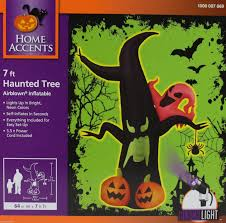 home accents 7 ft neon tree w ghosts and pumpkin