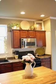 Simple Greenery Above Cabinets Decor Pinterest Rooms Kitchen - Decor for top of kitchen cabinets
