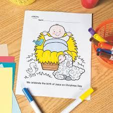baby jesus free printable coloring page orientaltrading com
