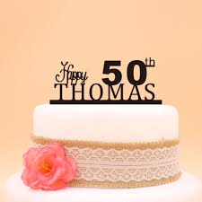 50th birthday cakes aliexpress buy happy 50th birthday cake topper custom name