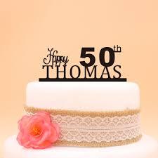 aliexpress com buy happy 50th birthday cake topper custom name