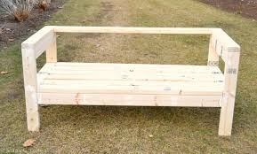 How To Make A Simple Wooden Bench - easiest 2x4 bench plans ever i am a homemaker