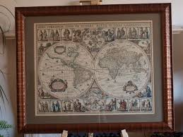 Old World Maps by Secondhand Vintage And Reclaimed Miscellany Fine Old World Map