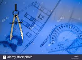 architect plan drawing instruments stock photo royalty free image