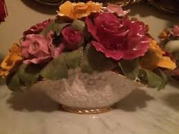 roses china royal albert country roses china flower basket centerpiece ebay