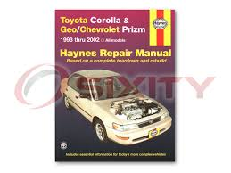 toyota corolla haynes repair manual s ve dx ce base le shop