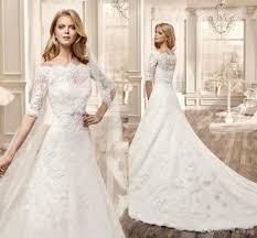 half lace wedding dress discount 2015 the shoulder lace wedding dresses with half