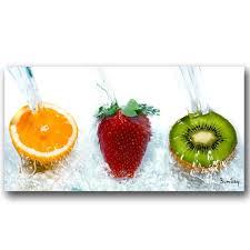 tableaux cuisine tableau moderne trio de fruits