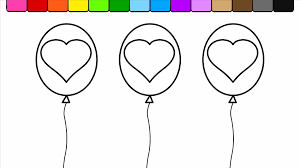 coloring pages kids kids happy balloon coloring page birthday