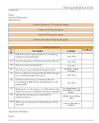 29 training feedback form template doc training evaluation form