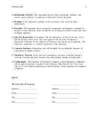 master agreement template standard