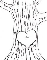 Initials Carved In Tree Initials On Tree Clipart Clipground