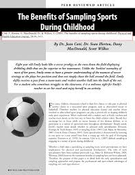 The Interplay Of Physical And The Benefits Of Sampling Sports During Childhood Pdf Download