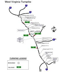 West Virginia online travel images Turnpike map jpg