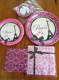 sweet brownie queen pink paris birthday invitations