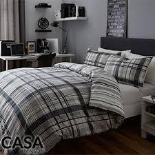 Postman Pat Duvet Set Buy Casa Maison Check U0026 Stripe Duvet Set Twin Pack At Home Bargains