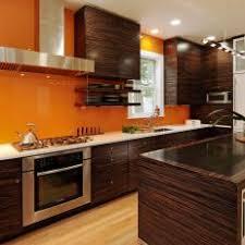 Kitchen With Brown Cabinets Orange Kitchen Photos Hgtv