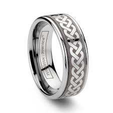 celtic knot wedding bands 6mm 8mm grooved celtic knot tungsten wedding band